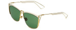 Christian Dior Designer Sunglasses So Electric 266 in White Gold with Green Lens