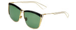 Christian Dior Designer Sunglasses So Electric MY2 in Black Gold with Green Lens