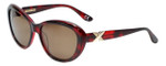 Corinne McCormack Designer Sunglasses Long Beach in Red Tortoise 56mm