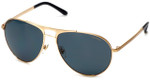 Versace VE2164-100281 Designer Sunglasses in Gold with Polarized Grey Lens