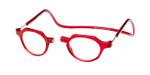 Clic Magnetic Eyewear Regular Fit Metro in Red :: Custom Left & Right Lens