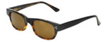 Reptile Designer Polarized Sunglasses Gilbert in Black-Tortoise with Gold Mirror Lens