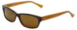 Reptile Designer Polarized Sunglasses Panther in Brown-Fade with Gold Mirror Lens