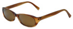 Reptile Designer Polarized Sunglasses Sauritus in Horn with Gold Mirror Lens