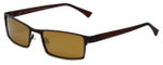 Reptile Designer Polarized Sunglasses Sobek in Brown with Gold Mirror Lens