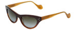 Reptile Designer Polarized Sunglasses Stiletto in Brown-Fade with Grey-Gradient Lens