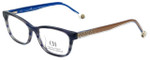 Carolina Herrera Designer Reading Glasses VHE725K-OWTC in Blue-Horn 50mm