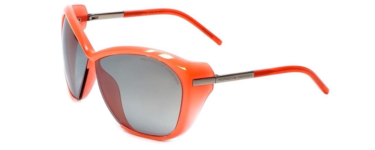 1d5e1f3830e99 Porsche Designer Sunglasses P8603-A in Coral with Grey Silver Mirror ...