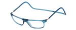 Clic Designer Eyeglasses Executive Style in Blue Jeans :: Custom Left & Right Lens
