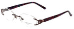 Marchon Designer Eyeglasses Airlock 830-238 in Berry 51mm :: Custom Left & Right Lens