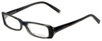 John Varvatos Designer Eyeglasses V303 in Black-Horn 52mm :: Custom Left & Right Lens