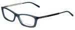Burberry Designer Eyeglasses B2129-3013 in Transparent Blue 51mm :: Progressive