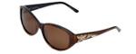 Judith Leiber Designer Sunglasses JL5002-02 in Topaz in Brown Lens