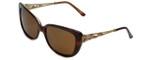 Judith Leiber Designer Sunglasses JL5009-02 in Topaz in Brown Lens