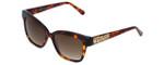 Judith Leiber Designer Sunglasses JL5015-02 in Tortoise in Brown Lens