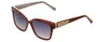 Judith Leiber Designer Sunglasses JL5015-06 in Blush in Burgundy-Gradient Lens