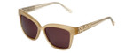 Judith Leiber Designer Sunglasses JL5015-09 in Cream in Brown Lens