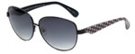 Betsey Johnson Designer Sunglasses Betseyville BV107-01 in Black with Grey-Gradient Lens