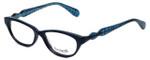 Betsey Johnson Designer Eyeglasses Betseyville BV115-05 in Fishnet-Blue 51mm :: Rx Single Vision