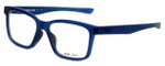 Oakley Designer Eyeglasses Fenceline OX8069-0953 in Frosted-Blue 53mm :: Rx Single Vision