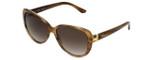 Chopard Designer Sunglasses SCH129S-0WTM in Brown-Striped with Brown-Gradient Lens