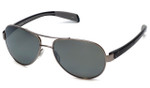 Native Designer Sunglasses Haskill in Chrome/Iron with N3 Silver Reflex Lens
