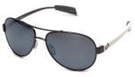 Native Designer Sunglasses Haskill in Gun/White with N3 Silver Reflex Lens