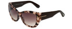 Tom-Ford Designer Sunglasses Corinne TF460-74P in Rose-Havana with Rose-Gradient Lens
