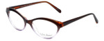 Valerie Spencer Designer Eyeglasses VS9312-BRN in Brown/Lilac Crystal 53mm :: Progressive