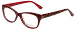 Valerie Spencer Designer Eyeglasses VS9290-RED in Red/Leopard 52mm :: Rx Bi-Focal