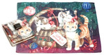 Holiday Christmas Theme Cleaning Cloth, Christmas Kitten