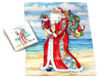 Holiday Christmas Theme Cleaning Cloth, Coastal St. Nick