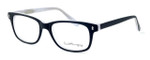 Ernest Hemingway Designer Eyeglasses H4617 in Matte-Black-White 52mm :: Rx Single Vision