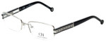 Carolina Herrera Designer Eyeglasses VHE049-0579 in Shiny Palladium 54mm :: Rx Single Vision