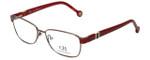 Carolina Herrera Designer Eyeglasses VHE063-08P2 in Red 55mm :: Progressive