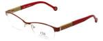 Carolina Herrera Designer Eyeglasses VHE025-0SAH in Red Beige 53mm :: Rx Bi-Focal
