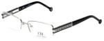 Carolina Herrera Designer Eyeglasses VHE049-0579 in Shiny Palladium 54mm :: Rx Bi-Focal