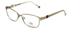 Carolina Herrera Designer Reading Glasses VHE063-08M6 in Beige White 57mm
