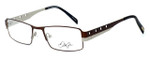 Dale Earnhardt, Jr. Designer Eyeglasses DJ6707 in Brown-Silver 52mm :: Rx Bi-Focal