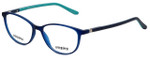 Seventeen Designer Eyeglasses SV5404-MCT in Matte Cobalt/Turquoise 51mm :: Custom Left & Right Lens