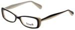 Betsey Johnson Designer Eyeglasses Color Blocking BV105-01 in Raven 52mm :: Rx Single Vision