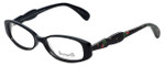 Betsey Johnson Designer Eyeglasses Rosebuds BV110-01 in Black 51mm :: Rx Single Vision