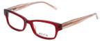 Ecru Designer Eyeglasses Stefani-030 in Lipstick 50mm :: Progressive