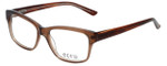 Ecru Designer Eyeglasses Collins-037 in Brown 53mm :: Progressive