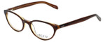 Ecru Designer Eyeglasses Daltrey-004 in Brown 50mm :: Progressive