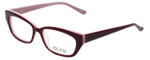 Ecru Designer Eyeglasses Bowie-001 in Wine 50mm :: Progressive