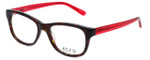 Ecru Designer Eyeglasses Morrison-051 in Tortoise-Red 51mm :: Custom Left & Right Lens