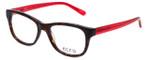 Ecru Designer Eyeglasses Morrison-051 in Tortoise-Red 51mm :: Custom Left & Right Lens