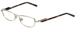 Burberry Designer Eyeglasses B1009-1002 in Gold 51mm :: Rx Bi-Focal