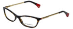 Emporio Armani Designer Eyeglasses EA3014-5026-54 in Havana Red 54mm :: Custom Left & Right Lens
